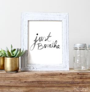 Just Breathe Print Free