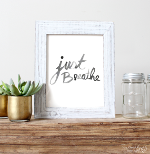 Just Breathe Print Free