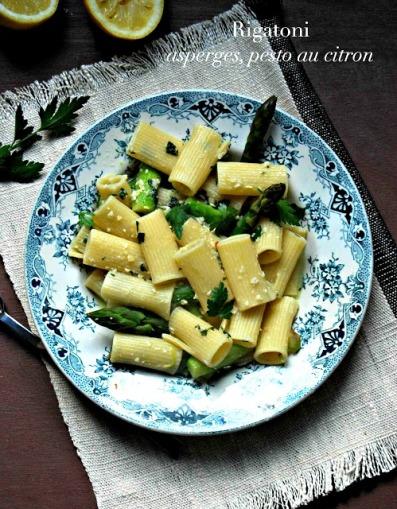Rigatoni asperges pesto au citron bd2