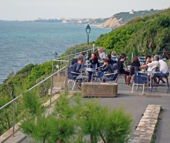 heteroclito terrasse restaurant vue mer guethary