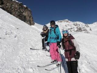 Les skieuses de la bande