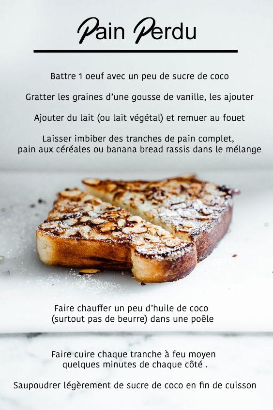 pain perdu recette petit dejeuner sportif